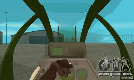 AH-1 super cobra for GTA San Andreas inner view