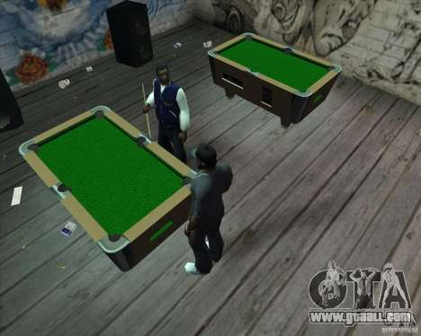 New pool table for GTA San Andreas second screenshot
