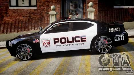 Dodge Charger NYPD Police v1.3 for GTA 4 back left view