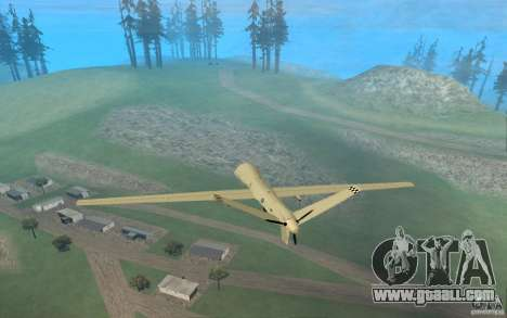 RQ9 Predator for GTA San Andreas left view