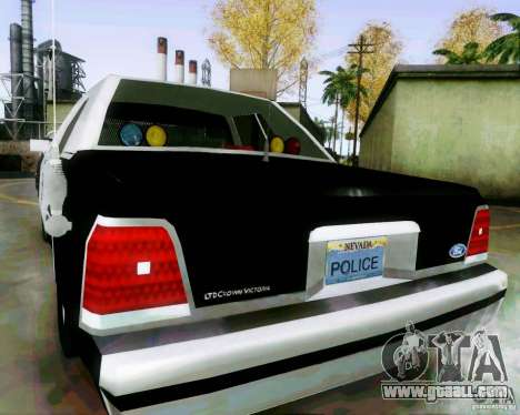 Ford Crown Victoria LTD 1991 LVMPD for GTA San Andreas back left view