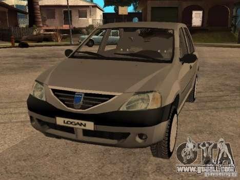 Dacia Logan 1.6 for GTA San Andreas side view