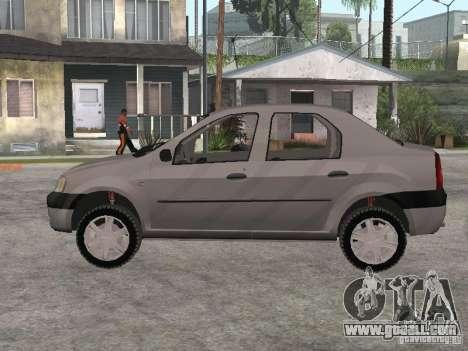 Dacia Logan 1.6 for GTA San Andreas back left view