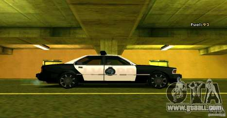 Sentinel Police LV for GTA San Andreas back left view