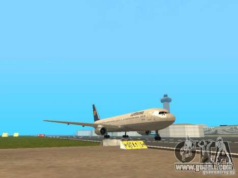 Boeing 767-300 Lufthansa for GTA San Andreas left view