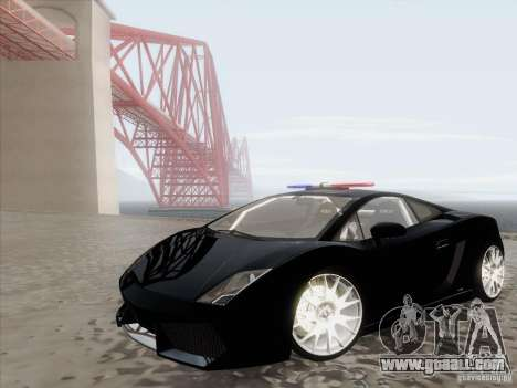 Lamborghini Gallardo LP-560 Police for GTA San Andreas