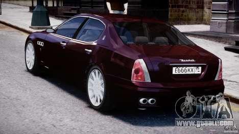 Maserati Quattroporte V for GTA 4 right view