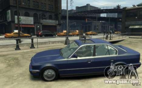 BMW 535i (E34) for GTA 4 left view
