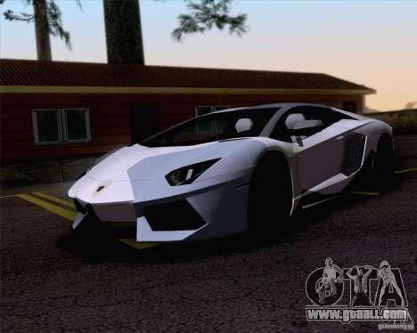 Paint work Lamborghini Aventador LP700-4 for GTA San Andreas left view