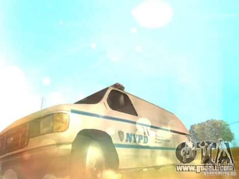 Ford E-150 NYPD Police for GTA San Andreas side view
