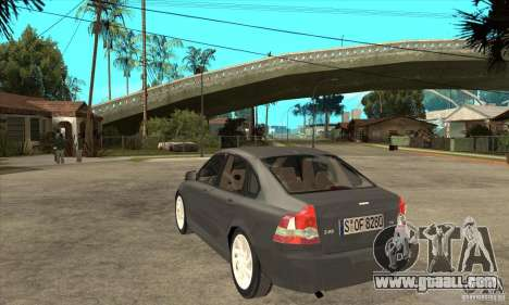 Volvo S40 2008 for GTA San Andreas back left view
