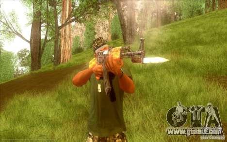 Kalashnikov HD for GTA San Andreas sixth screenshot