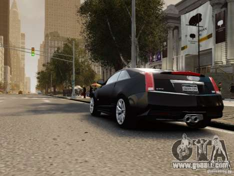 Cadillac CTS-V Coupe 2011 for GTA 4 back left view