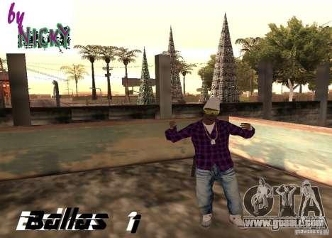Pak skins Ballas for GTA San Andreas
