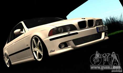BMW M5 E39 for GTA San Andreas upper view