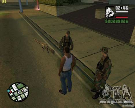 Throwing weapons for GTA San Andreas second screenshot