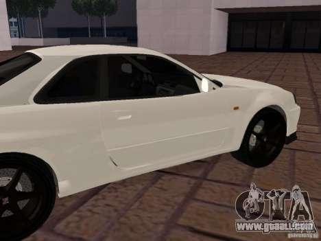 Nissan Skyline GT-R R34 Tunable for GTA San Andreas left view