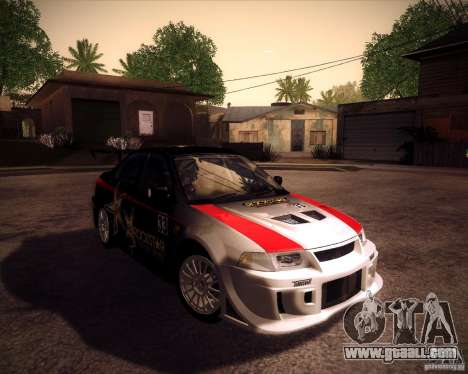 Mitsubishi Lancer Evolution VI 1999 Tunable for GTA San Andreas back view