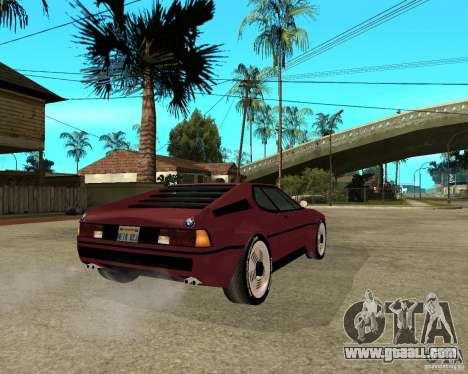 BMW M1 for GTA San Andreas back left view
