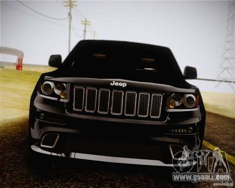 Jeep Grand Cherokee SRT-8 2012 for GTA San Andreas back left view