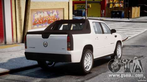 Cadillac Escalade Ext for GTA 4 back left view