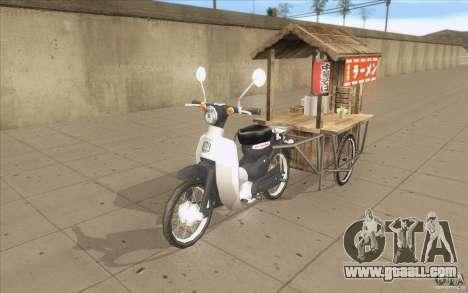 Honda Super Cub with a cart for GTA San Andreas