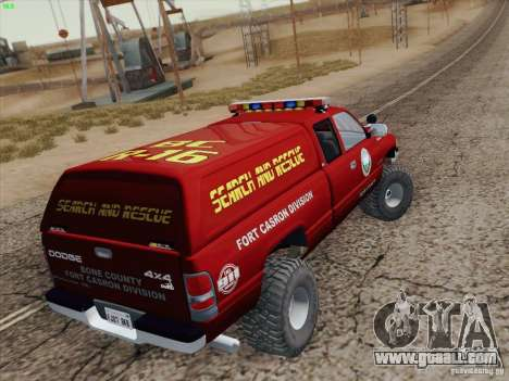 Dodge Ram 3500 Search & Rescue for GTA San Andreas engine