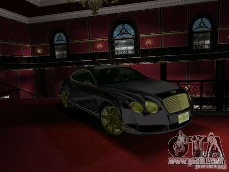 Bentley Continental GT for GTA Vice City right view