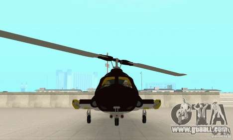 Airwolf for GTA San Andreas back view