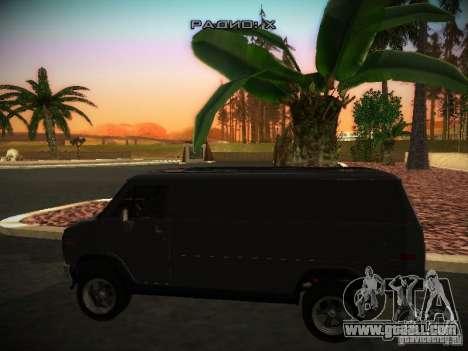 GMC Vandura for GTA San Andreas back left view