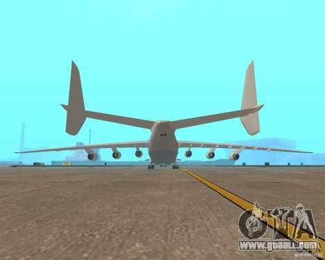 The an-225 Mriya for GTA San Andreas back left view