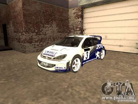 Peugeot 206 WRC from Richard Burns Rally for GTA San Andreas