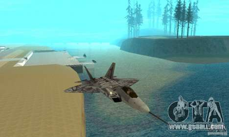 YF-22 Starscream for GTA San Andreas inner view