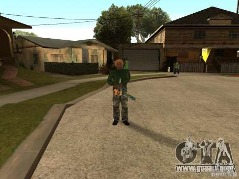 Throwing blades for GTA San Andreas second screenshot