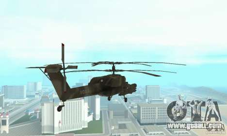 Mi-28 for GTA San Andreas back view