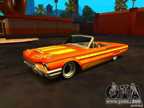 Ford Thunderbird 64 LowRider for GTA San Andreas bottom view
