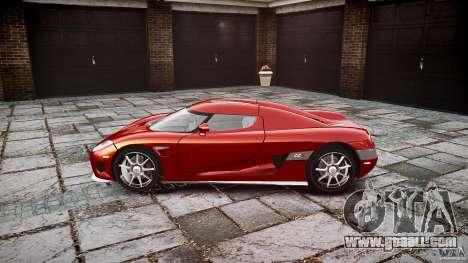 Koenigsegg CCX v1.1 for GTA 4 back view