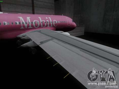 Airbus A319 Spirit of T-Mobile for GTA San Andreas inner view