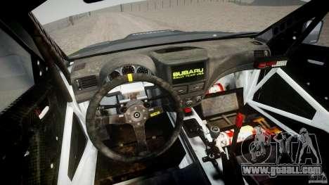 Subaru Impreza WRX STi 2009 Ken Block for GTA 4 back view
