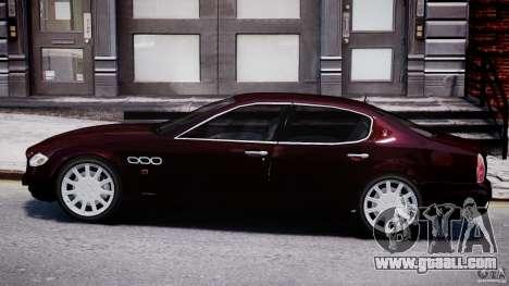Maserati Quattroporte V for GTA 4 back left view