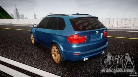 BMW X5 M-Power wheels V-spoke for GTA 4 back left view