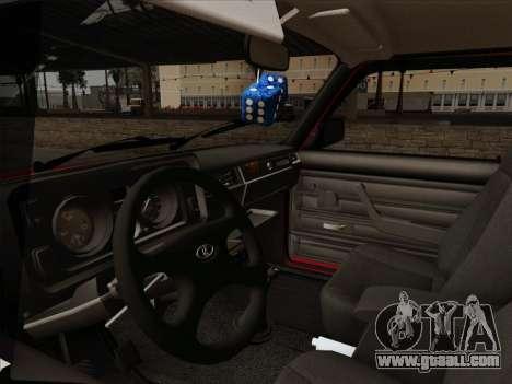 VAZ 21054 for GTA San Andreas upper view