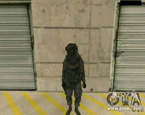 The soldier's skin from CODMW 2 for GTA San Andreas