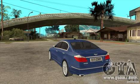 Hyundai Genesis for GTA San Andreas left view