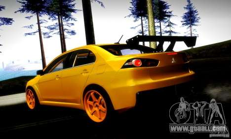 Mitsubishi Lancer Evo X Tuned for GTA San Andreas left view