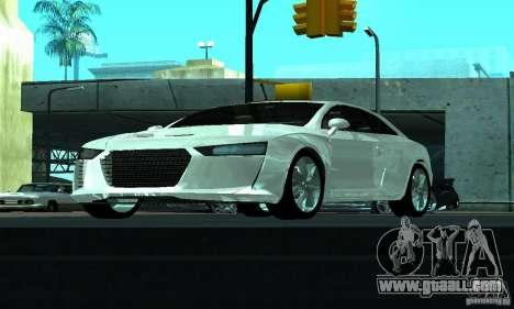 Audi Quattro Concept 2013 for GTA San Andreas side view