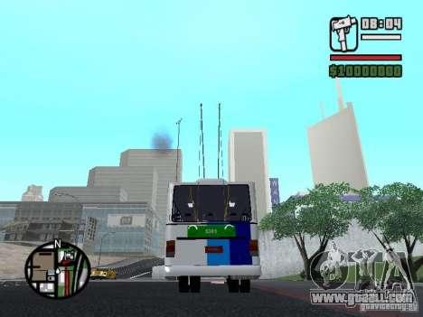 Cobrasma Monobloco Patrol II Trolerbus for GTA San Andreas back left view
