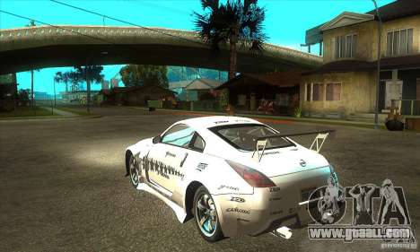 Nissan 350Z for GTA San Andreas right view