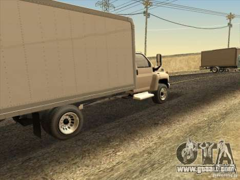 GMC 5500 2001 for GTA San Andreas right view
