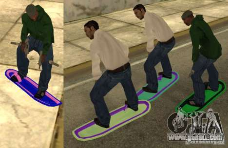 Hoverboard bttf for GTA San Andreas